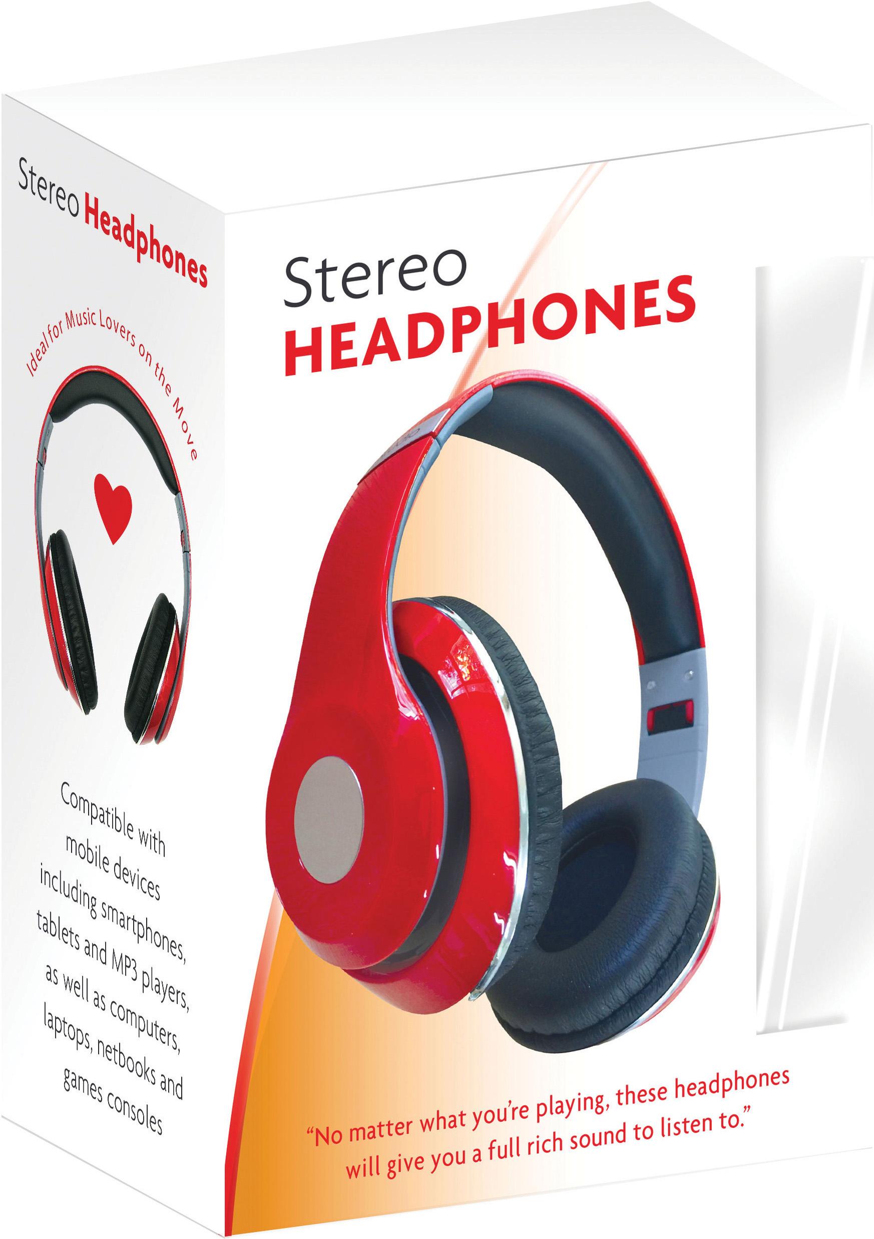 X305: Wireless Bluetooth Headphones – RED